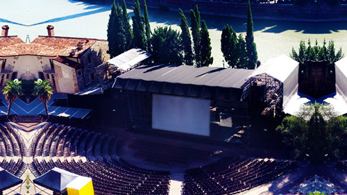 Cinema proiezione digitale DCP Teatro Romano Verona