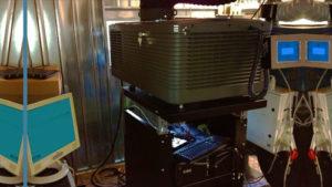 Cabina cinematografica con proiettore DCP 2220 Christie