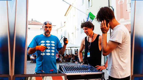 Mixer audio microfoni Isola Festival