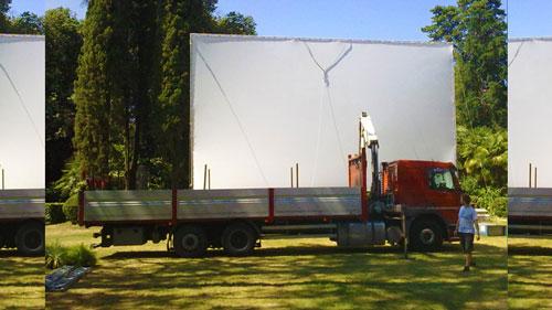Montaggio grande schermo Parco Villa Coronini Gorizia
